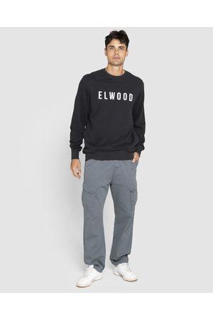 Elwood Men Sweatshirts - Mens Huff N Puff Crew - Crew Necks (Jet ) Mens Huff N Puff Crew