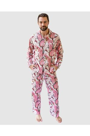 Sant And Abel Men Pyjamas - Men's Martinique® Banana Leaf Long PJ Set - Sleepwear Men's Martinique® Banana Leaf Long PJ Set