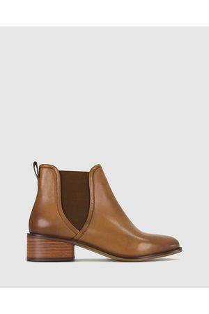 Betts Ziggy Leather Ankle Boots - Boots (Cognac) Ziggy Leather Ankle Boots