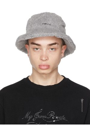 C2H4 Men Hats - SSENSE Exclusive Fleece 'Filtered Reality' Bucket Hat
