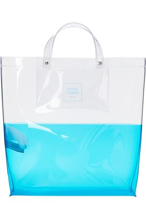 Opening Ceremony Transparent & Large Colorblock Shopping Tote