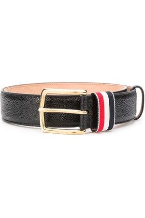 Thom Browne Striped loop pebbled belt