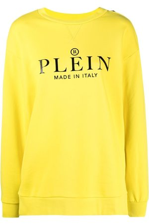Philipp Plein Women Sweatshirts - Logo print cotton sweatshirt