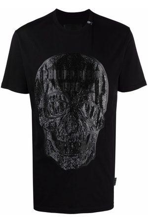 Philipp Plein Crystal embellished skull T-shirt