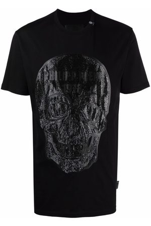 Philipp Plein Men Short Sleeve - Crystal embellished skull T-shirt