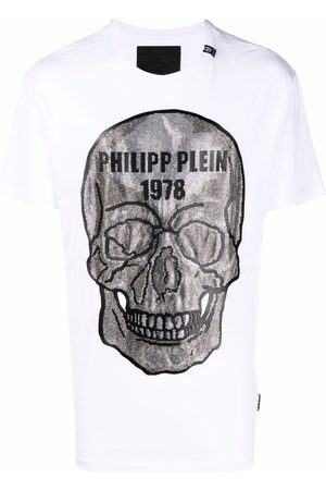 Philipp Plein Men Short Sleeve - Crystal skull cotton T-shirt