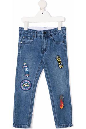 Stella McCartney Boys Slim - Multi-patch slim-fit jeans