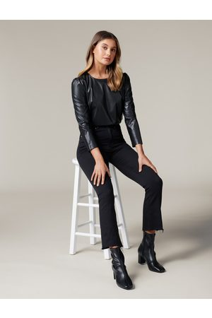Forever New Women Tops - Paula Faux Leather Top