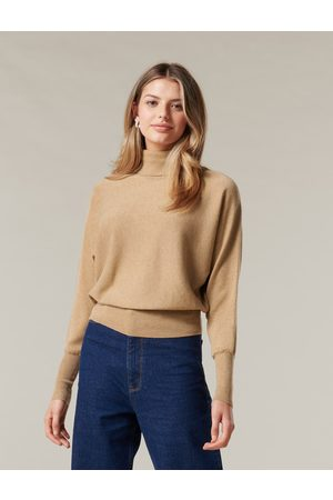 Forever New Women Sweaters - Layla Roll Neck Batwing Knit Jumper