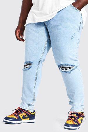 Boohoo Mens Ice Plus Skinny Stretch Exploded Knee Jean