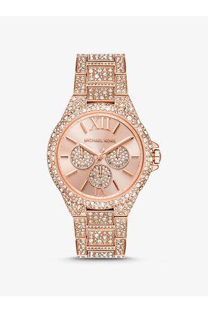 Michael Kors MK Oversized Camille Pavé Rose -Tone Watch - Rose