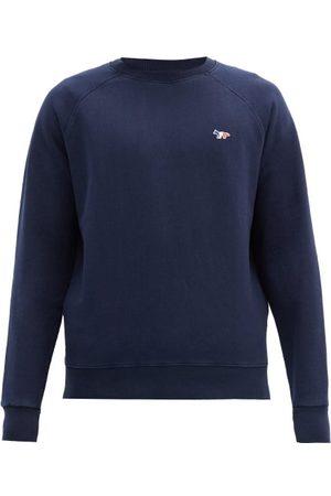 Maison Kitsuné Tricolour Fox-patch Cotton-jersey Sweatshirt - Mens - Navy