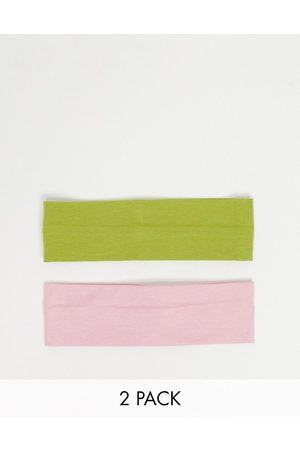 ASOS Pack of 2 wide jersey headbands-Multi