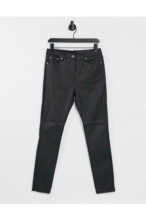 Parisian Coated skinny jeans in black