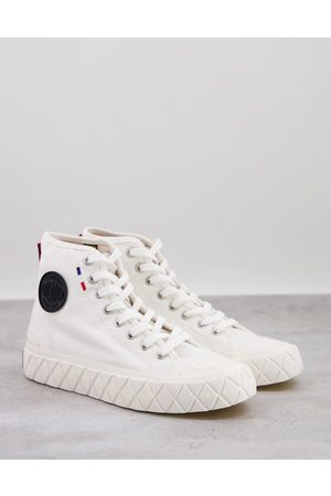 Palladium Palla Ace high top sneakers in star white