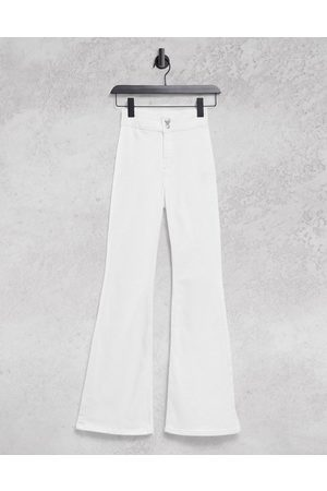Topshop Joni flared jeans in white