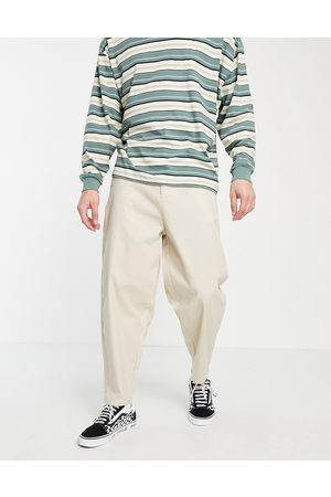 ASOS Chinos - Oversized tapered chino pants in beige-Neutral