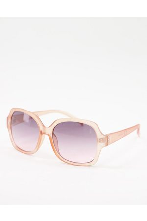 Lipsy London Square lens sunglasses with pink frame