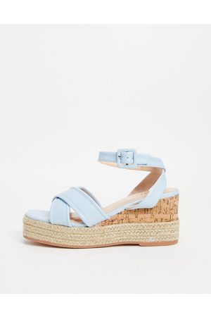 SIMMI Shoes SIMMI London Halima chunky strap wedge sandals in blue
