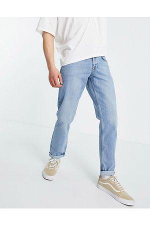 ASOS DESIGN Mid wash slim jeans in selvedge denim-Blue