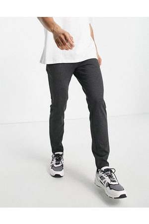 Only & Sons Stretch jersey pants in dark grey