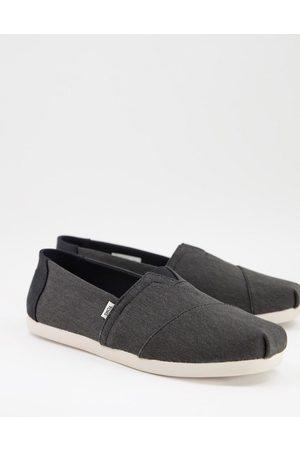 TOMS Vegan eco dye Alpargata slip on shoes in black