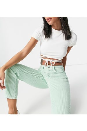 Reclaimed Vintage Inspired the 91 original mom jeans in mint cord-Green