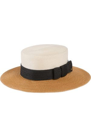 Gucci Women Hats - Straw-effect wide brim hat with bow