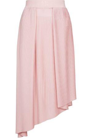 Givenchy Women Midi Skirts - Pleated crêpe de chine midi skirt