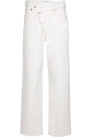 AGOLDE Women Boyfriend - Criss-Cross high-rise straight jeans