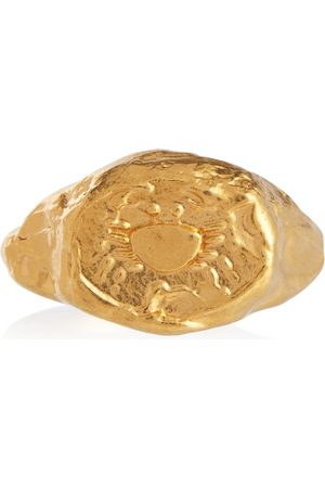 Alighieri Women Rings - Cancer 24kt -plated signet ring