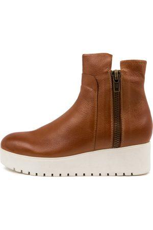Django & Juliette Women Ankle Boots - Karsen Dj Tan Sole Boots Womens Shoes Casual Ankle Boots
