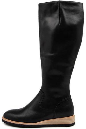 Django & Juliette Women Knee High Boots - Valli Dj Natural Heel Boots Womens Shoes Casual Long Boots
