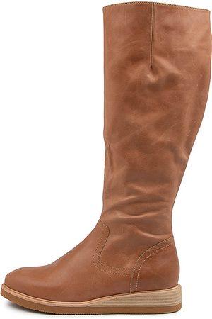 Django & Juliette Women Knee High Boots - Valli Dj Tan Boots Womens Shoes Casual Long Boots