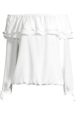 Michael Kors Women Strapless Tops - Off-The-Shoulder Ruffle Top