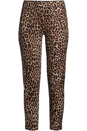 Michael Kors Women Culottes - Leopard-Print Cropped Ponte Pants