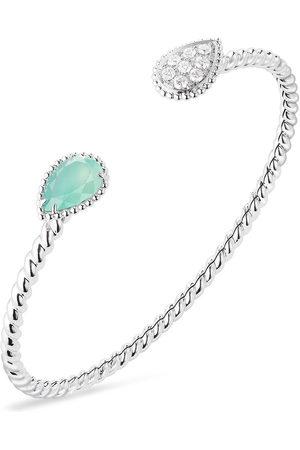 Boucheron Women Bracelets - 18kt white gold diamond aquaprase Serpente Bohème bracelet