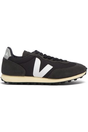 Veja Rio Branco Suede-panelled Mesh Trainers - Womens