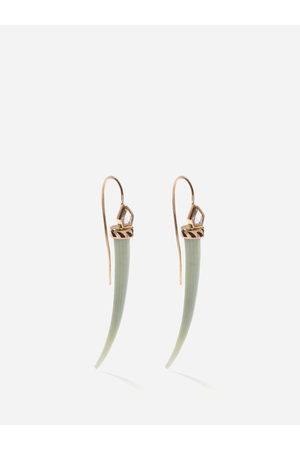 Dezso Deco Jali Topaz & 18kt Rose-gold Earrings - Womens - Cream