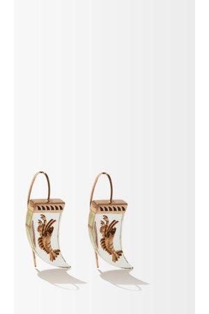 Dezso Lemon Quartz & 18kt Rose-gold Earrings - Womens - Multi