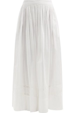 MIMI PROBER Salter Lace-trimmed Organic-cotton Maxi Skirt - Womens