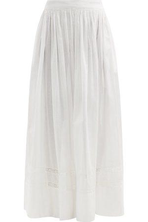 MIMI PROBER Salter Lace-trimmed Organic-cotton Maxi Skirt - Womens