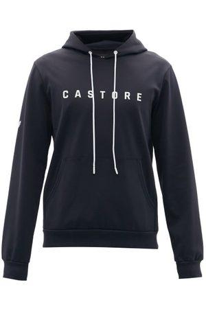 CASTORE Garcia Logo-print Jersey Hooded Sweatshirt - Mens - Navy