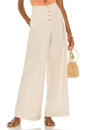 Suboo Cecile Linen High Waist Pant in .