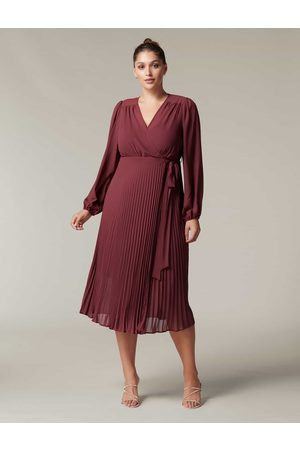 Forever New Women Party Dresses - Penelope Curve Pleated Wrap Dress