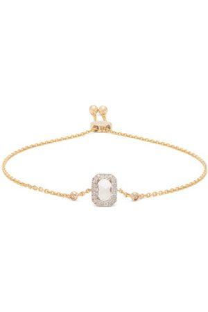 Anissa Kermiche April Diamond, Quartz & Gold Bracelet - Womens - Clear
