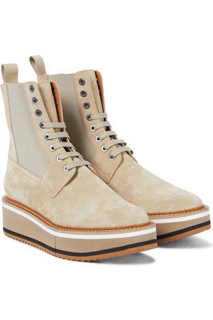Robert Clergerie Women Heeled Boots - Brendy suede platform combat boots