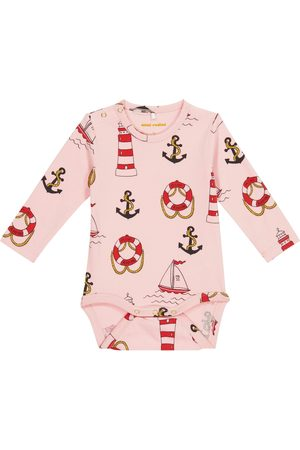 Mini Rodini Rompers - Baby Lighthouse stretch-cotton bodysuit
