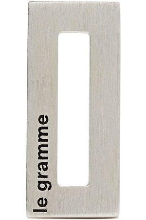 Le Gramme Logo-engraved rectangle pendant