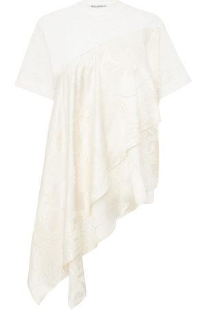 JW Anderson Floral pattern asymmetric T-shirt